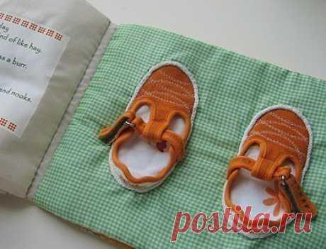 Мягкая книжка - Одежда и обувь стр.1