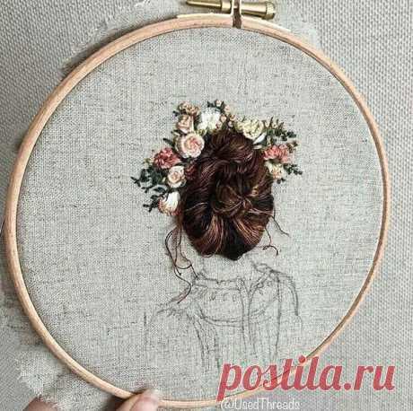 Красивая вышивка  by usedthreads (Инстаграм)