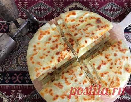 Экспресс-лепешки с картошкой (тесто без дрожжей). Ингредиенты: мацони, мука, оливковое масло Extra Virgin