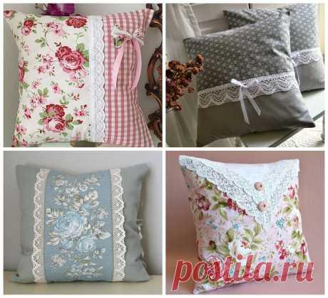 Декоративные подушки своими руками: для себя и в подарок