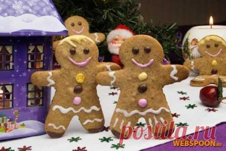 Рождественский имбирный человечек с фото | Рецепт пряничного человечка | Имбирное печенье на Webspoon.ru
