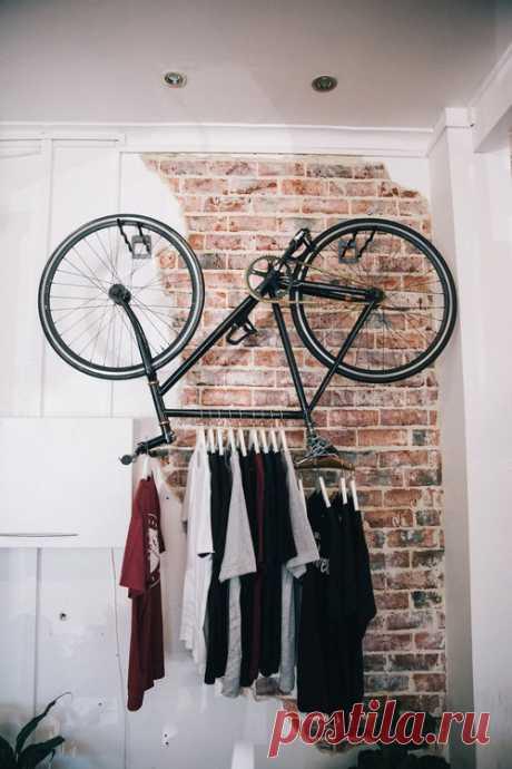 Веловешалка Модная одежда и дизайн интерьера своими руками