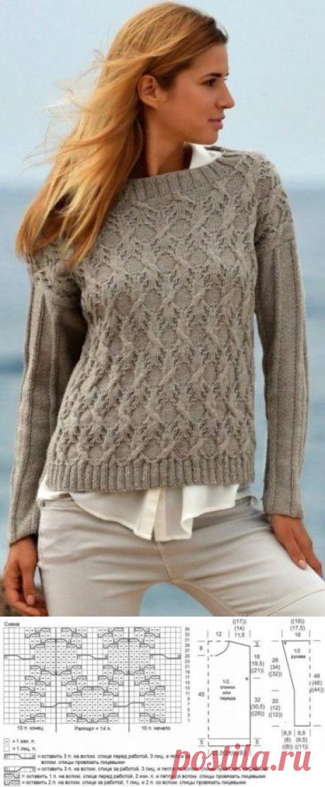 Вязаный пуловер 2020