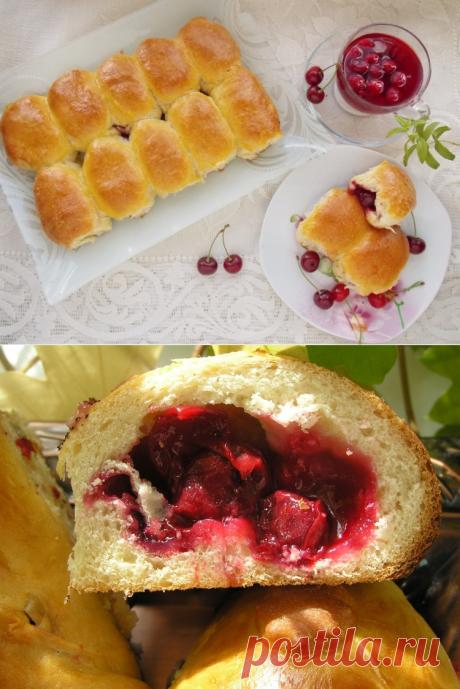 Пирожки с вишней / Простые рецепты