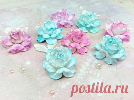 Roses from paper the hands!!! Roses from paper handwork!!!