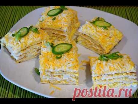Закусочный тортик из мацы_Matso cake-appetizer