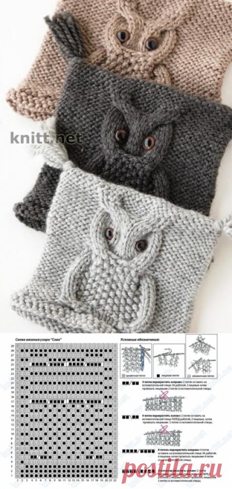Шапка сова - 18 Октября 2014 - Блог - Вязаные вещи на заказ