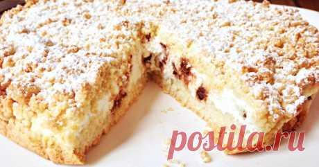 Песочный пирог на сковороде