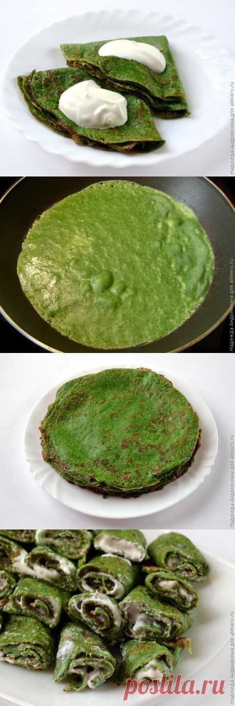 И наконец - неожиданные блинчики зеленого цвета ;) (для получения рецепта нажмите 2 раза на картинку)