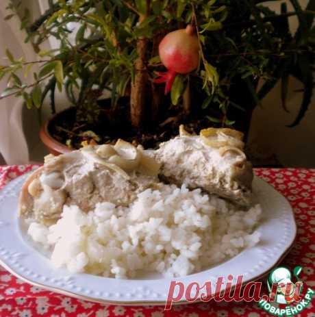 Курица с луком и горчицей - кулинарный рецепт