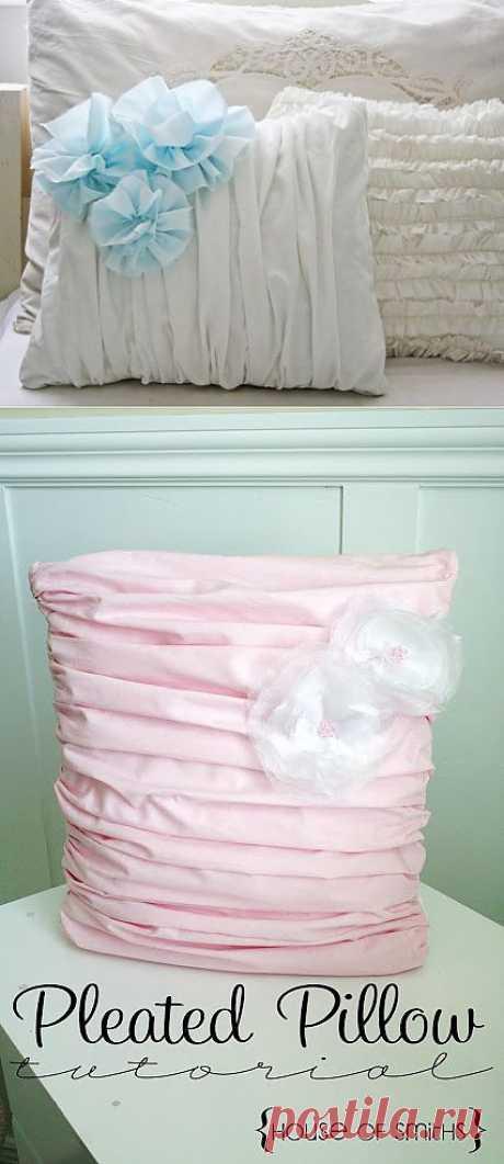 Романтичная спальня: как сшить подушку со складками? МК.