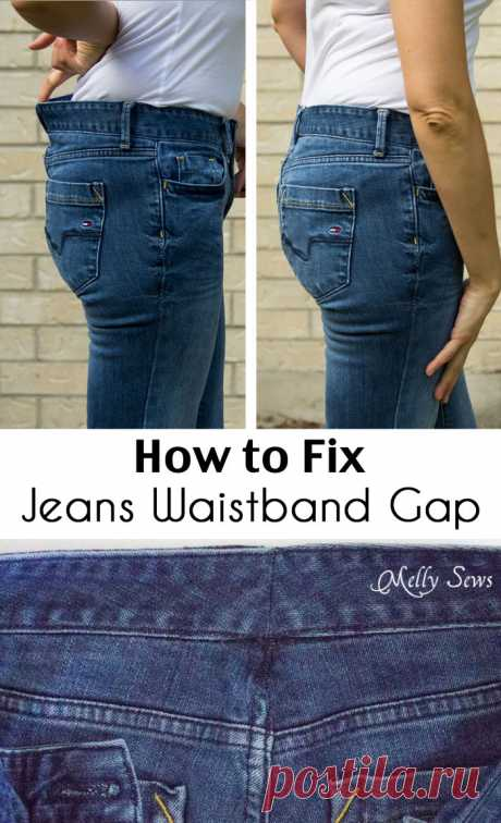 Fix Jeans Waistband Gap - Jean-ious Ideas - Melly Sews Y'all, there are a few mysteries of ready to wear clothing that I just can't solve. Like, why can I find bras and underwear that fit but not swimsuits? Or why do all the cute shoes start at a size 6 when I wear a 5? Or, why do jeans always gap at the back...Read More