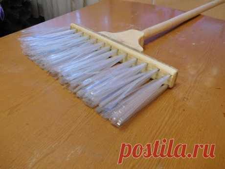 Как сделать метлу из пластиковой бутылки./ How to make a broom from plastic bottles.