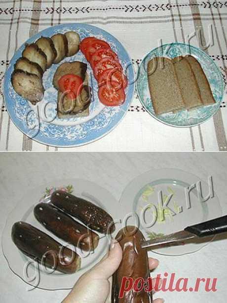 Хорошая кухня - соленые баклажаны. Кулинарная книга рецептов. Салаты, выпечка.