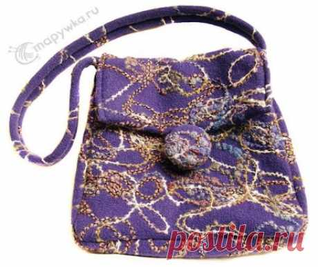 Handmade-сумка из валяного трикотажа - купить | Вещи ручной работы | HANDMADE интернет-магазин