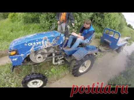 На Китайском тракторе Скаут Т-18 по бездорожью - YouTube