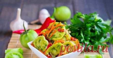 Острые зеленые томаты по-корейски. Оригинальный вкус захватывает и восхищает