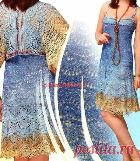 Узор веерки - подборка узоров - вязание платьев, жакетов и кофточек (модели со схемами и описаниями)