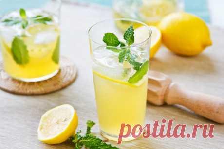 Натуральный мятный лимонад на скорую руку