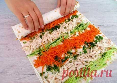 Рулет из лаваша / Классная закуска - пошаговый рецепт с фото. Автор рецепта Другая Кухня-Валерия 🏃♂️ ✈️ . - Cookpad