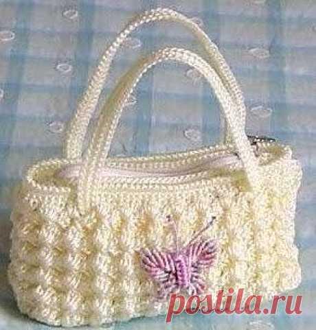 Очаровательная сумочка крючком. Схемы