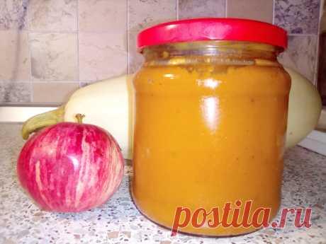 Кабачковая икра с яблоком