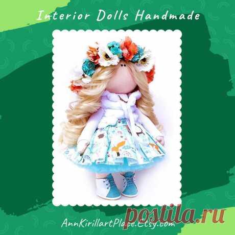 Nursery Decor Doll Handmade Interior Art Cloth Doll Baby | Etsy