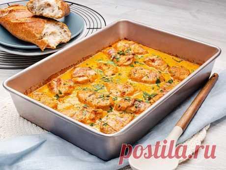 Schweinefilet in Curry-Sahne Rezept    LECKER Zartes Schweinefilet aus dem Ofen ist schon an sich ein Gedicht. Wenn es aber mit cremiger Curry-Soße aus der Röhre kommt, gibt es kein Halten mehr!