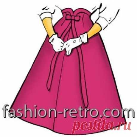 Стильная юбка-четырёхклинка 50-х