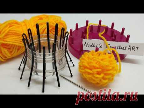 Amazing idea for making woolen flower stencil tool at home