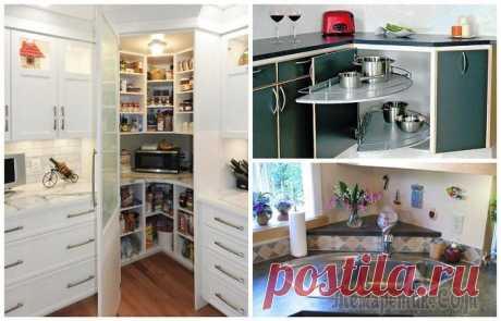 10 идей, как рационально использовать кухонные углы и выжать из них максимум Учитывая, что в среднестатистических квартирах кухне отводится очень мало места, актуальным является вопрос о том, как разместить всю необходимую мебель и технику таким образом, чтобы в комнате можно ...
