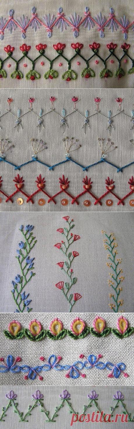 Las ideas del bordado para la decoración de la ropa y los accesorios