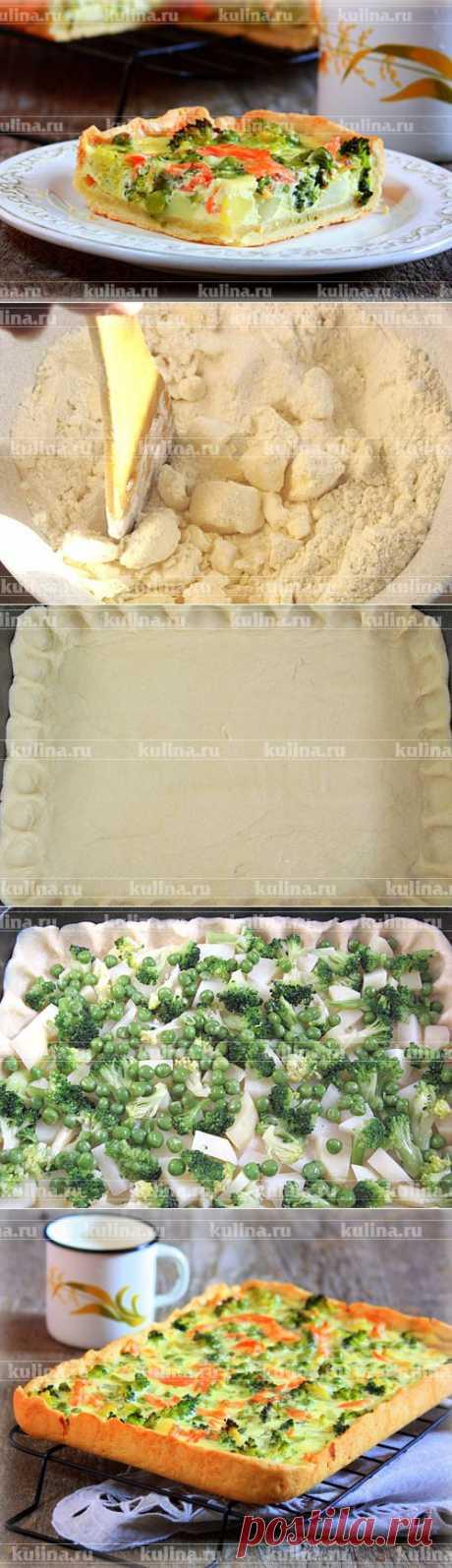 Пирог с форелью и брокколи | Домохозяйки