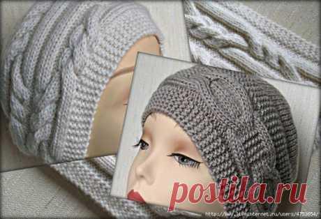 Шапочки  #спицы #вязаная_шапка #вязаный_шарф