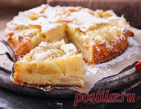 Нежный яблочный пирог со сметанным кремом