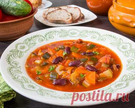 Летний овощной суп с красной фасолью | Вкусный блог - рецепты под настроение