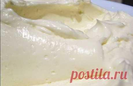 «Сливочный крем «Пятиминутка»Крем делается так просто и быстро, а получается такой вкусный! | Эксклюзивные шедевры кулинарии.