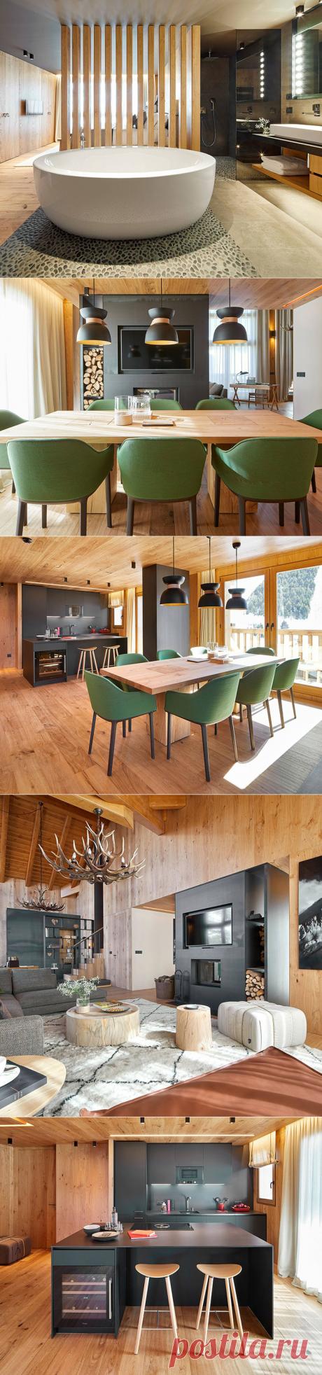 El apartamento moderno en las montañas de la Andorra