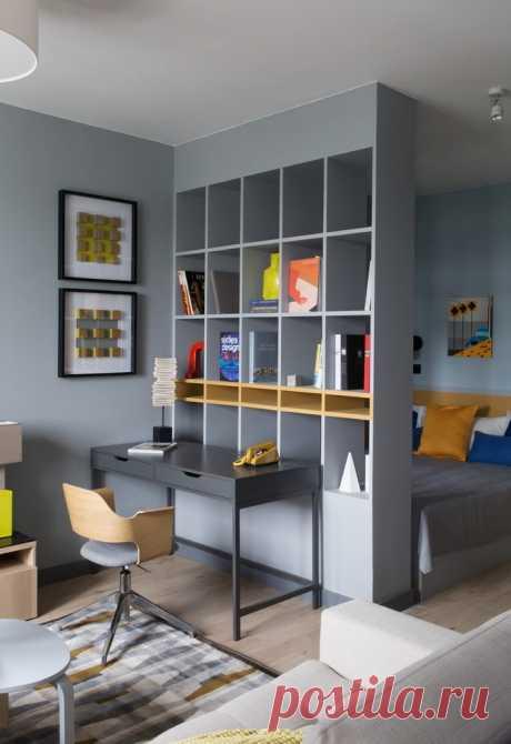 Стеллаж-перегородка для зонирования комнаты: 50+ фото, дизайнерские идеи