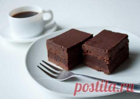 Чудесные брауни с глубоким шоколадно-кофейным вкусом
