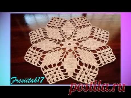 Tapete tejido a crochet super fácil (varetas dobles10 hileras)
