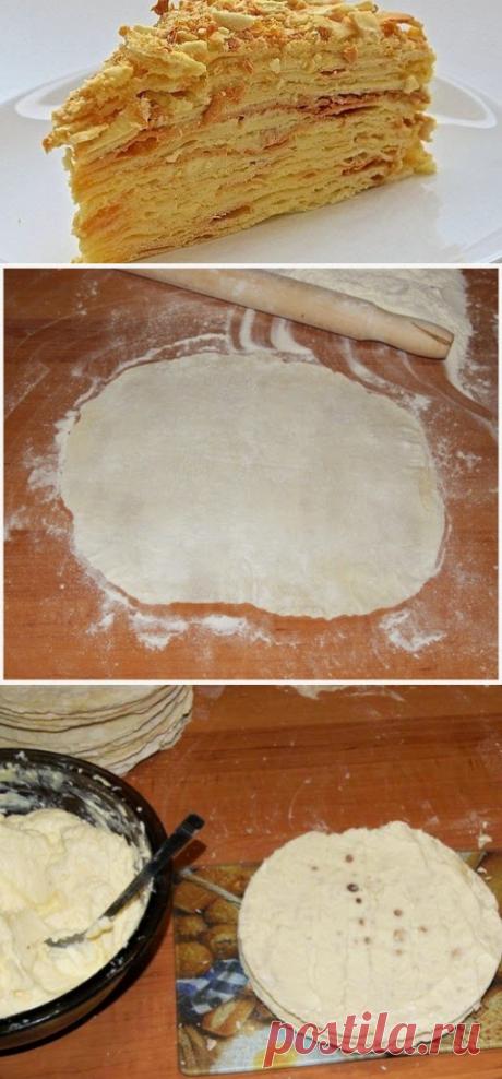 Кулинарные рецепты : Торт «Наполеон» на сковороде