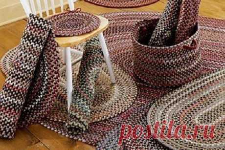 Как превратить старые колготки в очаровательные коврики, без крючка. Мастер-класс   Краше Всех