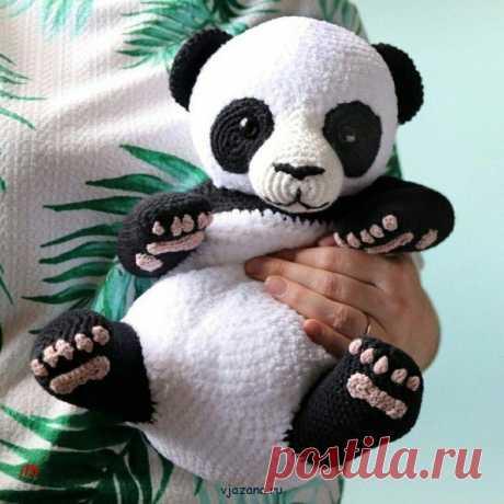 Мишка панда милый и забавный   Вязана.ru