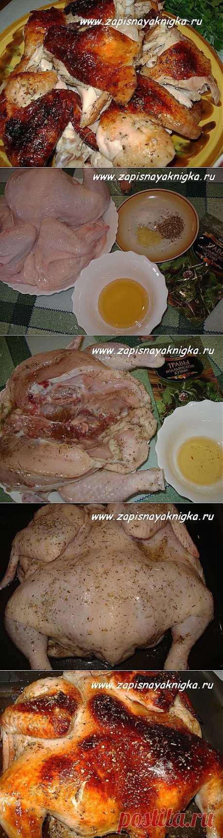 курица в духовке с медом   Записная книжка рецептов Анюты