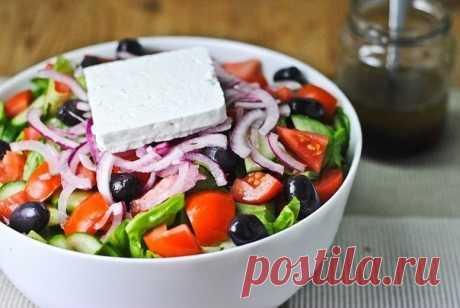 Греческий салат - Бабушкины рецепты