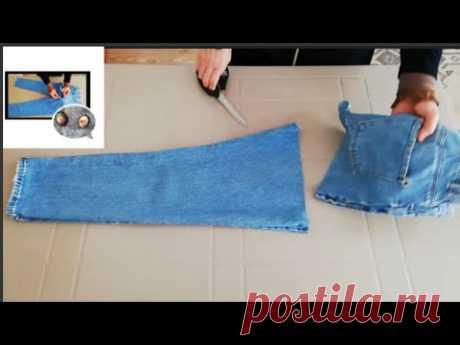 Жилетка для девочки и корзиночка для мелочей из джинсов