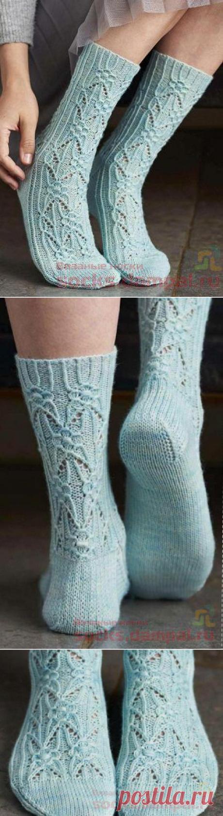 Ажурные носки «Borage» | ВЯЗАНЫЕ НОСКИ