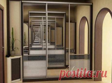 Купить зеркальный шкаф купе в комнату: цена, фото, дизайн