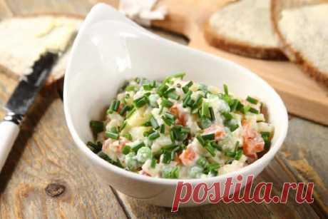 Вкусный овощной салат без майонеза – пошаговый рецепт с фото.